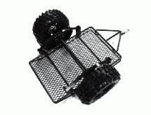 Realistic Leaf Spring 1/10 Size Low Side Trailer for Scale Crawler Truck