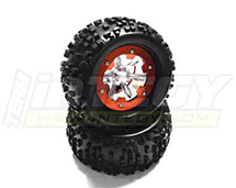 Type IV 3.0 Size Wheel & Tire (2) for 1/10 Rock Crawler w/ 12mm Hex (O.D.=138mm)