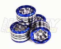 High Mass 40oz Alloy Type VII Beadlock 2.2 Wheel (4) Set for 1/10 Rock Crawler