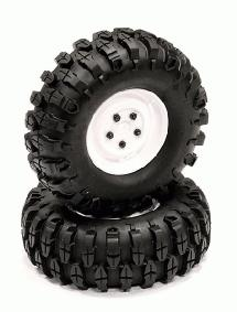 Rover Style 1.9 Wheels (2) w/ All Terrain T1 Tires for Scale Crawler O.D.=105mm