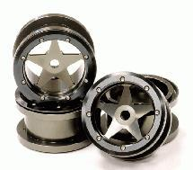 Billet Machined Alloy 5 Spoke Beadlock Wheel(4) for Axial Wraith 2.2 w/ 12mm Hex