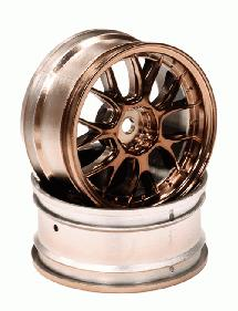 14 Spoke Type II Bronze Tone Wheel Set (2) for 1/10 Drift and Touring Car