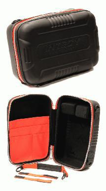 Universal Protective Hard Carrying Case for Transmitter 12x8x5in. (Red Trim)