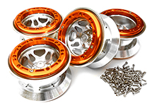 Billet Machined Alloy Type XI 5S Beadlock 2.2 Wheel(4) Set for 1/10 Rock Crawler