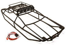 Type IV Steel Roll Cage Body w/ Luggage Tray & LED Light for Traxxas 1/10 Summit