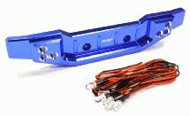 Billet Machined Alloy Rear Bumper w/ LED Lights for Traxxas 1/10 Summit Off-Road