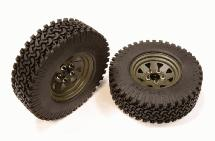 Realistic Metal 8 Spoke Type XR Off-Road 1.9 Size Wheel & Tire (2) (O.D.=97mm)