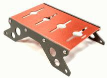 Carbon 40mm Side Plate Car Stand w/ Shock Stand for 1/10 Scale