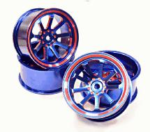 Billet Machined Alloy 9 Spoke Wheel 0 Offset for 1/10 Drift & Touring Car