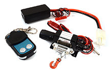 T10 Realistic High Torque Mega Winch w/ Remote for Scale Rock Crawler 1/10 Size