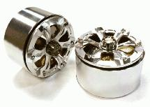 Billet Machined 6 Spoke LCG Weighted Wheel (2) for 1/10 Scale 2.2 Crawler Truck