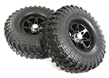 Billet Machined B9 Spoke 1.9 Wheel & Tire Set (2) for Scale Crawler (O.D.=113mm)