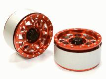 Billet Machined B9 Spoke Off-Road 1.9 (2) Beadlock Wheel for 1/10 Scale Crawler