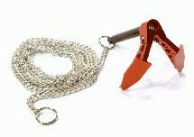 Billet Machined Realistic Scale Model Portable Winch Anchor w/ Chain 1/10 Size