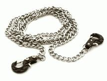 V2 Realistic 1/10 Scale Metal Drag Chain w/ Tow Hooks for Off-Road Crawler
