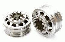 Billet Machined Alloy T5 Front Wheel Set for Tamiya 1/14 Scale Tractor Trucks