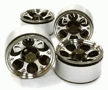 1.9 Size Billet Machined Alloy 6H Spoke Wheel(4)High Mass Type for Scale Crawler