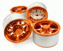 2.2 Size Billet Machined Alloy 6V Spoke Wheel(4)High Mass Type for Scale Crawler