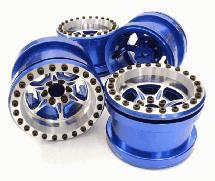 Billet Machined 6 Spoke Wheel Set (4) for Axial 1/10 Yeti Rock Racer