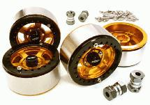 1.9 Size Machined High Mass Wheel (4) w/14mm Offset Hubs for 1/10 Scale Crawler
