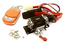 Billet Machined T3 Realistic Mega Winch w/Wireless Module for 1/10 Scale Crawler