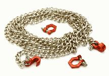 Realistic 1/10 Size Drag Chain & Tow Hooks w/ Bow Shackle for Off-Road Crawler