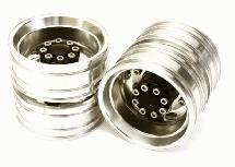 Machined Alloy T8 Rear Dually Wheel Set for Tamiya 1/14 Scale Tractor Trucks