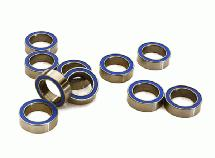 Low Friction Blue Rubber Sealed Ball Bearings (10) 8x12x3.5mm for RC Vehicles