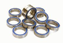Low Friction Blue Rubber Sealed Ball Bearings (10) 12x18x4mm for RC Vehicles
