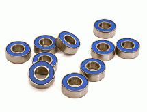 Low Friction Blue Rubber Sealed Ball Bearings (10) 5x11x4mm for RC Vehicles