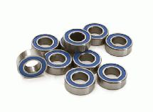 Low Friction Blue Rubber Sealed Ball Bearings (10) 6x12x4mm for RC Vehicles