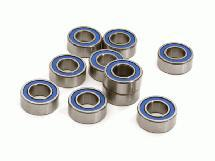 Low Friction Blue Rubber Sealed Ball Bearings (10) 5x10x4mm for RC Vehicles