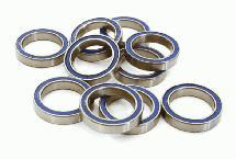 Low Friction Blue Rubber Sealed Ball Bearings (10) 15x21x4mm for RC Vehicles