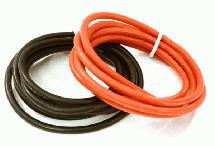 Flexible 14 AWG Gauge Silicone Wire 1m Set, 39in Black 39in Red