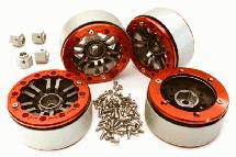 Billet Machined 1.9 Dual 6 Spoke Wheels w/12mm Hex Adapters for Traxxas TRX-4