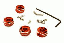12mm Hex Wheel (4) Hub 6mm Thick for Traxxas 1/10, Axial, Tamiya, TC & Drift