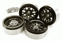 Billet Machined 2.2 Size 14 Spoke Wheels w/ +3 Adapters for Traxxas TRX-4