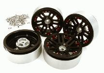 Billet Machined 2.2 Size D6 Spoke Wheels w/ +3 Adapters for Traxxas TRX-4