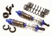 Machined 100mm Rear Alloy Shocks for Traxxas 1/10 Stampede, Rustler & Slash