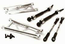 Billet Extended Rear Suspension Kit+Drive Shafts for Traxxas 1/10 Stampede 2WD