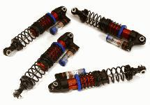 Adjustable Rebound Piggyback Shock (4) for Traxxas TRX-4 Scale & Trail Crawler
