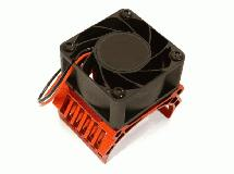 42mm Motor Heatsink+40x40mm Cooling Fan 17k rpm for Traxxas 1/10 E-Maxx