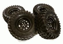 Metal Alloy 2.2 Size Wheel & Tire Set (4) for 1/10 Off-Road O.D. 128mm