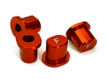 Billet Machined Front Hinge Pin Brace Inserts for Losi 1/5 Desert Buggy XL-E