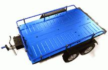 Machined Alloy Flatbed Dual Axle Car Trailer Kit for 1/10 Scale RC 515x316x120mm