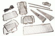 Stainless Window Guards & Protection Plates for Traxxas TRX-4 Crawler