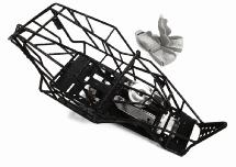Steel Roll Cage Body w/ Main Gearbox & Motor for Axial 1/10 Wraith 2.2 & RR10