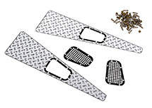 Realistic Alloy Diamond Plate Overlay Panels for Traxxas TRX-4 Crawler