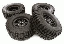 Composite Dual 6 Spoke Off-Road 1.9 Size Wheel & Tire (4) (O.D.=102mm)