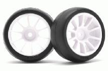 RIDE M-Chassis 60 Low Profile Sc32 Tires(2) w/ 10 Spoke Inch-up Wheels & Inserts